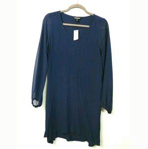 Express NEW sheath dress Sheer sleeves V-neck